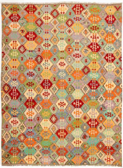 Flat-weaves & Kilims  Geometric Multi Area rug 9x12 Turkish Flat-weave 329976