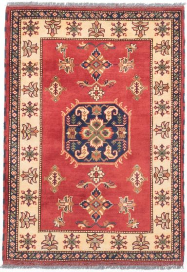 Tribal Orange Area rug 3x5 Afghan Hand-knotted 203399