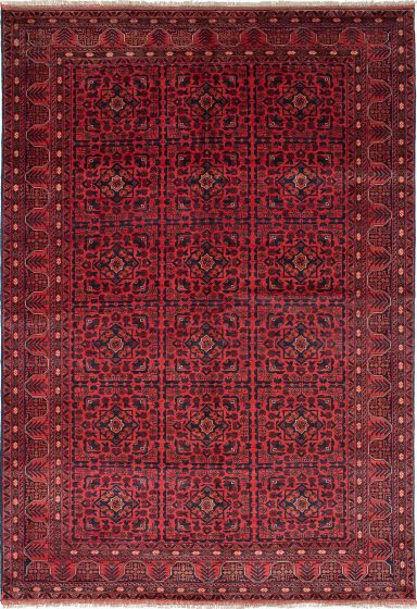 Traditional Brown Area rug 6x9 Afghan Hand-knotted 222123