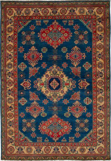Bohemian  Geometric Blue Area rug 5x8 Afghan Hand-knotted 271404