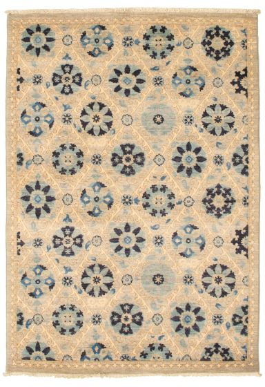 Floral  Transitional Grey Area rug 3x5 Pakistani Hand-knotted 342152