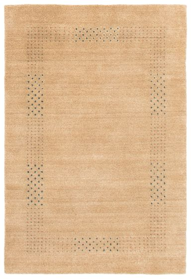 Gabbeh  Tribal Brown Area rug 3x5 Indian Hand Loomed 364670