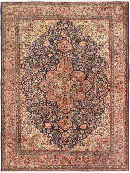 Bordered  Traditional Blue Area rug 6x9 Turkish Hand-knotted 280957
