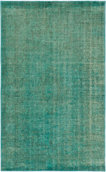 Transitional Blue Area rug 5x8 Turkish Hand-knotted 163852