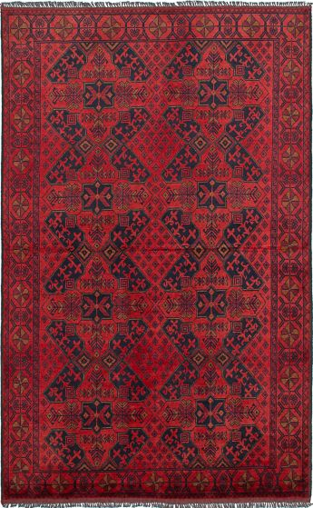 Traditional  Tribal Red Area rug 4x6 Afghan Hand-knotted 234578