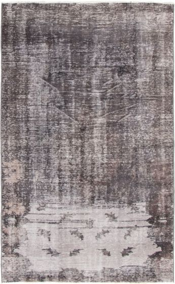 Casual  Transitional Black Area rug 6x9 Turkish Hand-knotted 296978