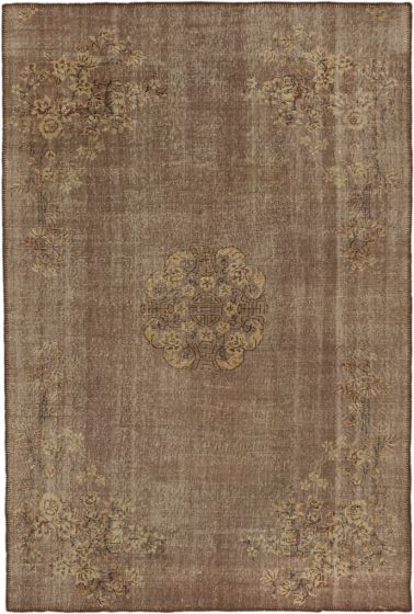Traditional Ivory Area rug 6x9 Turkish Hand-knotted 163862
