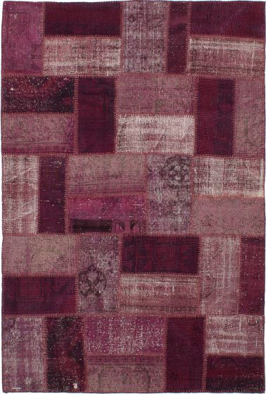 Transitional Red Area rug 5x8 Turkish Hand-knotted 231694
