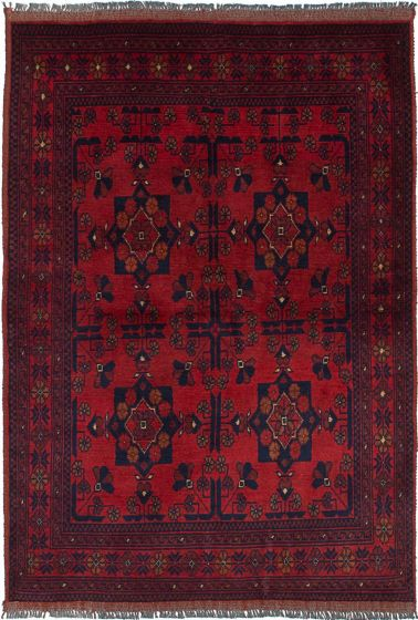 Traditional  Tribal Red Area rug 3x5 Afghan Hand-knotted 236121