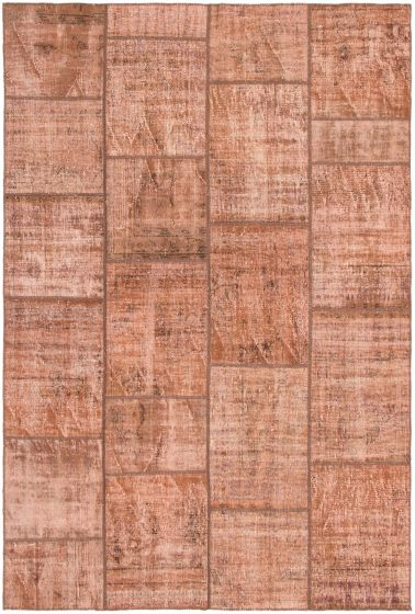 Casual  Transitional Brown Area rug 6x9 Turkish Hand-knotted 297989