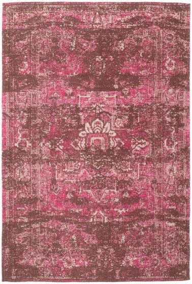 Bordered  Transitional Pink Area rug 5x8 Indian Handmade 306112