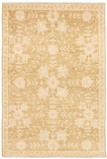 Bordered  Traditional Green Area rug 3x5 Pakistani Hand-knotted 338994
