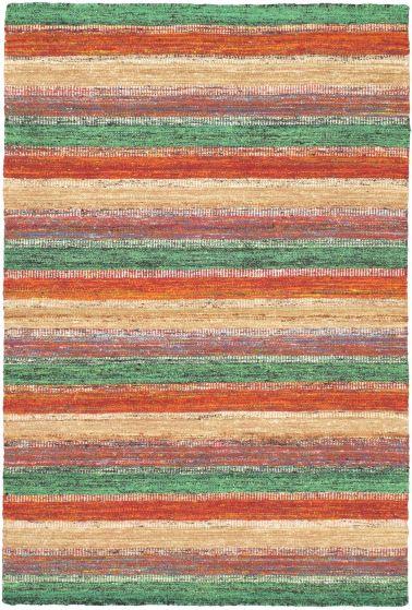 Contemporary Pink Area rug 4x6 Pakistani Flat-weave 55826