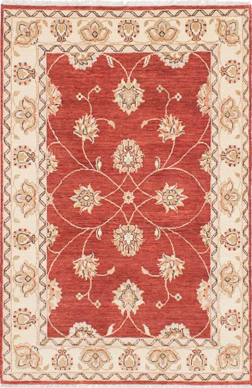 Traditional Red Area rug 3x5 Indian Hand-knotted 223719