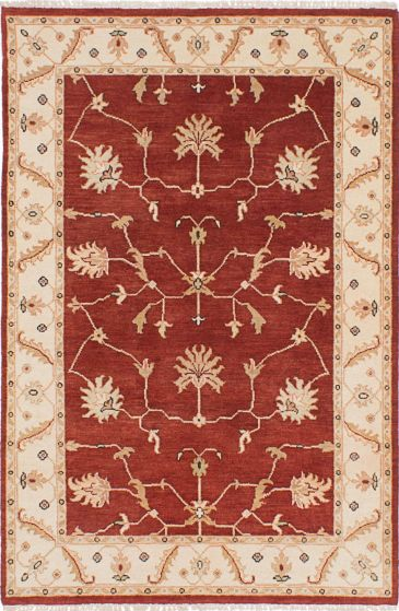 Traditional Red Area rug 3x5 Indian Hand-knotted 223843