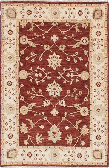 Traditional Red Area rug 3x5 Indian Hand-knotted 223931