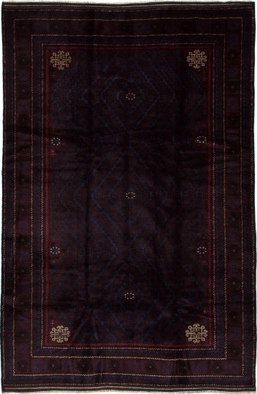 Traditional  Tribal Brown Area rug 5x8 Afghan Hand-knotted 226593