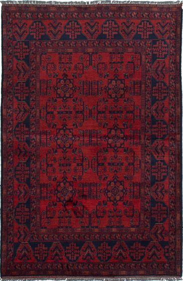 Traditional  Tribal Red Area rug 3x5 Afghan Hand-knotted 234588