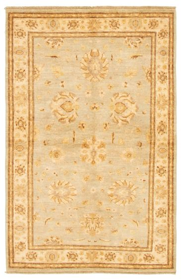 Bordered  Traditional Grey Area rug 3x5 Afghan Hand-knotted 331470