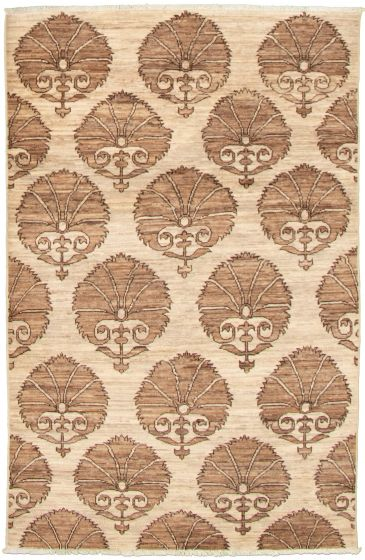 Casual  Transitional Ivory Area rug 3x5 Pakistani Hand-knotted 338983