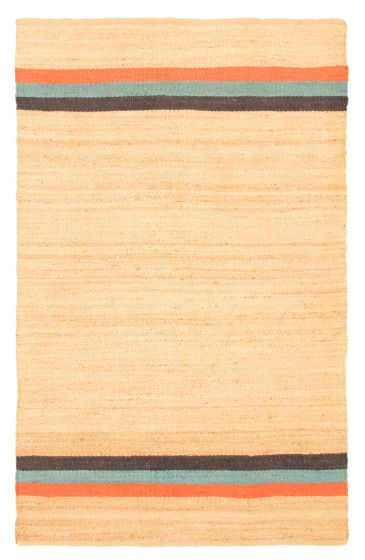 Flat-weaves & Kilims  Transitional Brown Area rug 5x8 Indian Flat-weave 344482