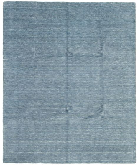 Gabbeh  Tribal Blue Area rug 6x9 Indian Hand-knotted 331205