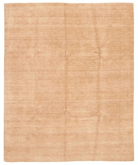 Gabbeh  Tribal Brown Area rug 6x9 Indian Hand-knotted 331250