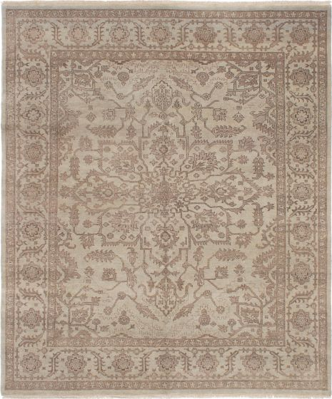 Traditional Grey Area rug 6x9 Indian Hand-knotted 224111