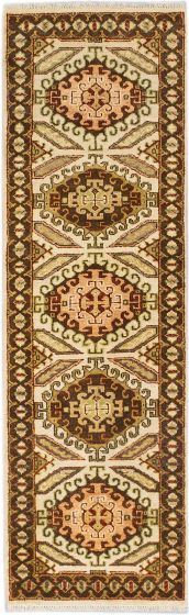 Traditional Blue Runner rug 8-ft-runner Indian Hand-knotted 183949