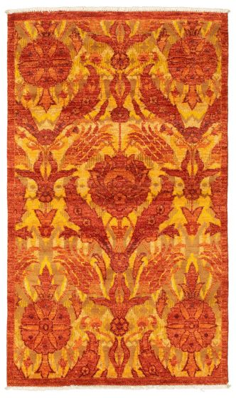 Traditional  Transitional Brown Area rug 3x5 Pakistani Hand-knotted 342110