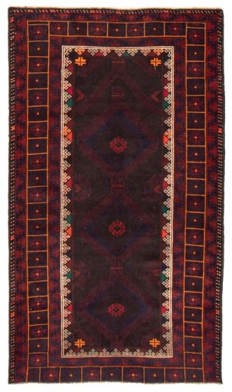 Geometric  Tribal Red Area rug 3x5 Afghan Hand-knotted 367548
