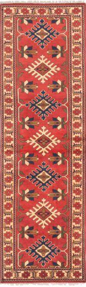 Tribal Brown Runner rug 9-ft-runner Afghan Hand-knotted 203132