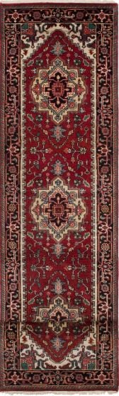 Floral  Traditional Brown Runner rug 12-ft-runner Indian Hand-knotted 208440
