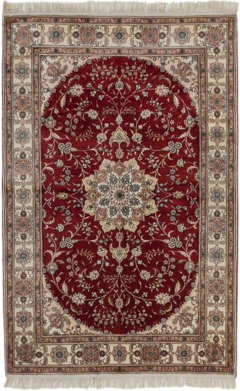 Traditional Red Area rug 3x5 Chinese Hand-knotted 189953