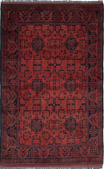 Traditional  Tribal Brown Area rug 3x5 Afghan Hand-knotted 234541