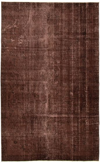 Bordered  Transitional Brown Area rug 5x8 Turkish Hand-knotted 328510
