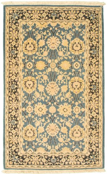 Bordered  Traditional Grey Area rug 3x5 Afghan Hand-knotted 336653