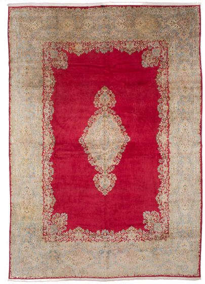 Vintage Red Area rug 12x15 Persian Hand-knotted 206595