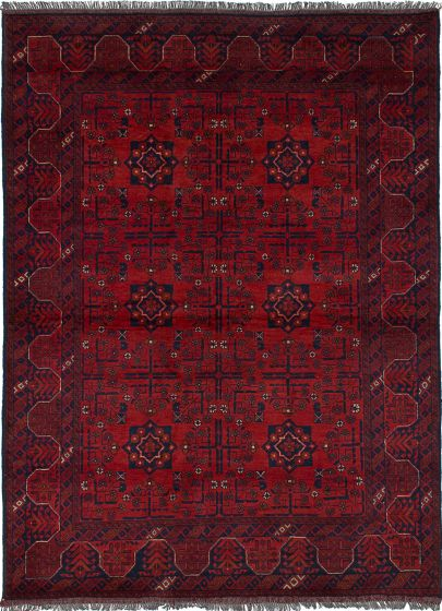 Traditional  Tribal Red Area rug 4x6 Afghan Hand-knotted 236172