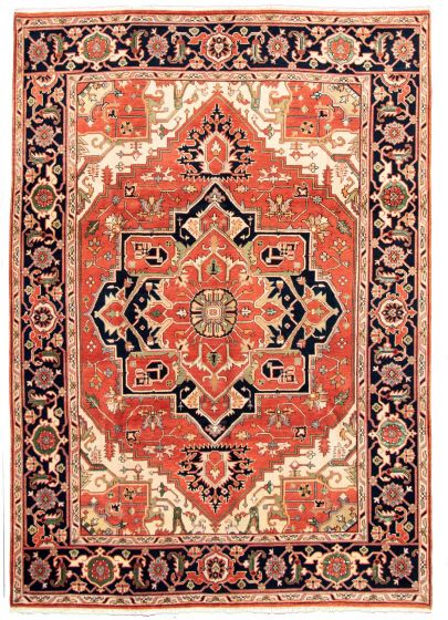 Bordered  Traditional Brown Area rug 9x12 Indian Hand-knotted 331264