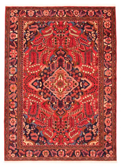 Bordered  Traditional Red Area rug 6x9 Persian Hand-knotted 366595