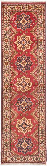 Tribal Brown Runner rug 10-ft-runner Afghan Hand-knotted 203038