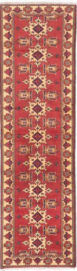 Tribal Red Runner rug 10-ft-runner Afghan Hand-knotted 203318