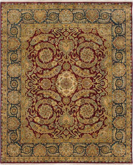Traditional Red Area rug 6x9 Indian Hand-knotted 227924