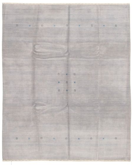Gabbeh  Tribal Grey Area rug 6x9 Indian Hand-knotted 331228