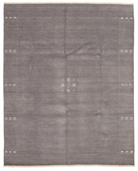 Gabbeh  Tribal Grey Area rug 6x9 Indian Hand-knotted 331232