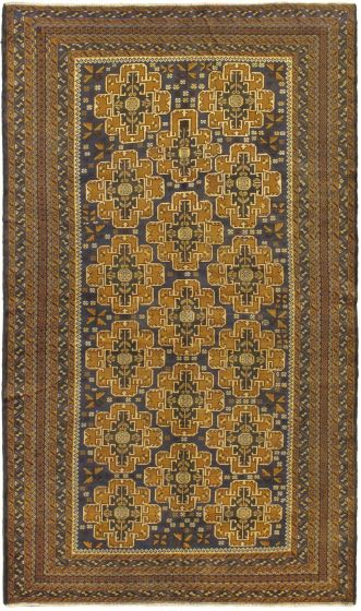 Traditional Brown Area rug 6x9 Afghan Hand-knotted 57529