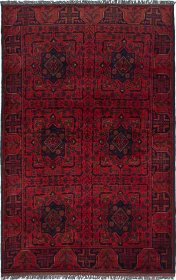 Traditional  Tribal Red Area rug 3x5 Afghan Hand-knotted 234580