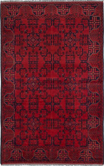 Traditional  Tribal Red Area rug 3x5 Afghan Hand-knotted 234595