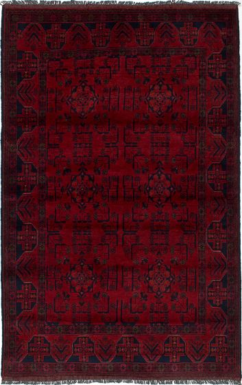 Traditional  Tribal Red Area rug 3x5 Afghan Hand-knotted 235664